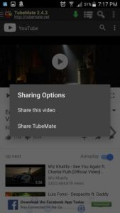 TubeMate YouTube Download share video