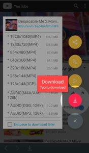 Tubemate 3 download options